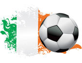 Ivory Coast Soccer Grunge Design — Stock Vector