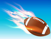 Flaming Football — Stock Vector