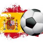 progettazione di grunge calcio Spagna — Vettoriale Stock