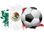 Mexico Soccer Grunge Design — Stock Vector