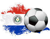 Paraguay Soccer Grunge Design — Stock Vector