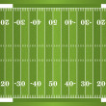 Textured Grass American Football Field — Stock Vector