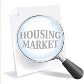 Taking a Closer Look at the Housing Market — Stock Vector