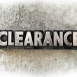 Stock Photo: Clearance