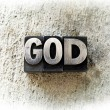 Stock Photo: The name God written in type