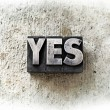 Word Yes concept — Stock Photo #31849797