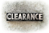 Clearance — Stock Photo
