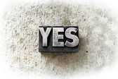 The word Yes concept — Stock Photo