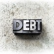 Debt — Stock Photo