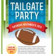 American Football Tailgate Party Flyer Design — Stock Vector