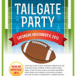 Stock Vector: American Football Tailgate Party Flyer Design