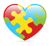 Autism Heart — Stock Vector