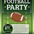 Football Party Flyer — Vettoriali Stock