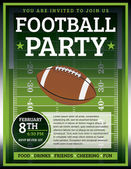 Football Party Flyer — Stock Vector