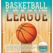 Basketball League Flyer — Stock Vector