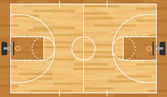 Realistic Vector Basketball Court — Stock Vector