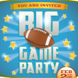 Stock Vector: AmericFootball Party Flyer