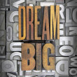 Постер, плакат: Dream BIg