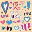 Valentine's Day Doodles — Vector de stock