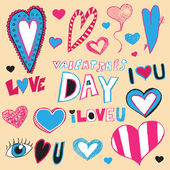 Valentine's Day Doodles — Stock Vector