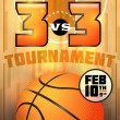 Stock Vector: Basketball Tournament Poster