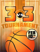 Basketball Tournament Poster — Stock Vector