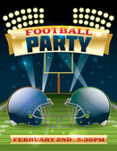 American Football Party Flyer — Stock Vector