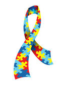 Autism Awareness Ribbon — 图库矢量图片