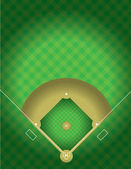 Vector Baseball Field — Stock Vector