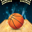 Vector Basketball Court — Stock Vector