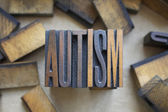Autism Letterpress Type — Stock Photo