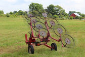 Hay Rake in Field — Photo