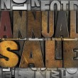 Stock Photo: Annual Sale