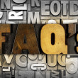 Stock Photo: FAQ's Frequently Asked Questions