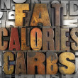 Stock Photo: Fat Calories Carbs