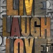 Stock Photo: Live Laugh Love