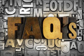 FAQ's Frequently Asked Questions — Stock Photo
