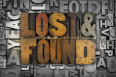 Lost and Found — Stock Photo