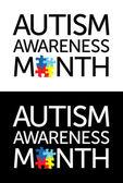 Maand van de voorlichting van het autisme — Stockvector