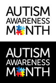 Autism Awareness Month — Stock Vector