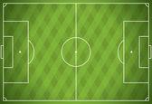 Realistic Vector Football Soccer Field — Stock Vector