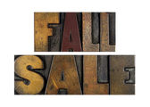 Fall Sale — Stock Photo