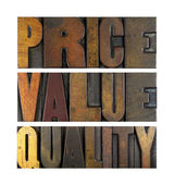 Price Value Quality — Stock Photo