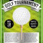 Golf Tournament Flyer — Stock Vector #43340235