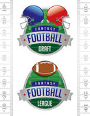 American Fantasy Football Illustrations — Stock Vector