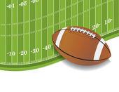 美式足球场和球背景 — 图库矢量图片