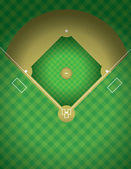 Baseball Field Illustration — 图库矢量图片
