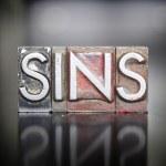 Постер, плакат: Sins Letterpress