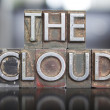 The Cloud Letterpress — Stock Photo