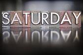 Saturday Letterpress — Stock Photo